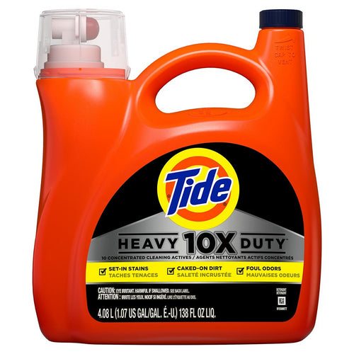 Tide 10X Heavy Duty Liquid Laundry Detergent 138 fl. oz 4.08 L