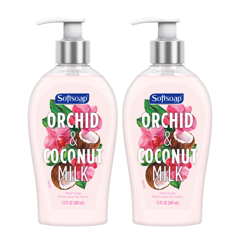 "Softsoap Orchid & Coconut Milk Hand Soap 13 oz 384 ml ""2-PACK"""