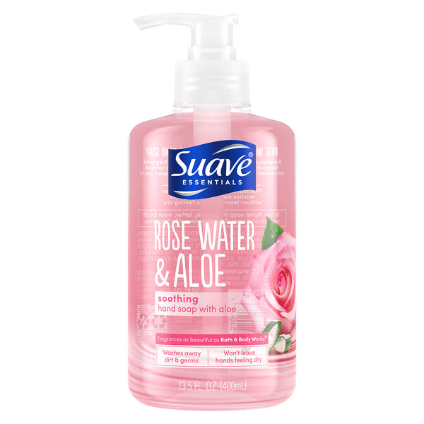 Suave Essentials Soothing Liquid Hand Soap Rose Water & Aloe 13.5 oz