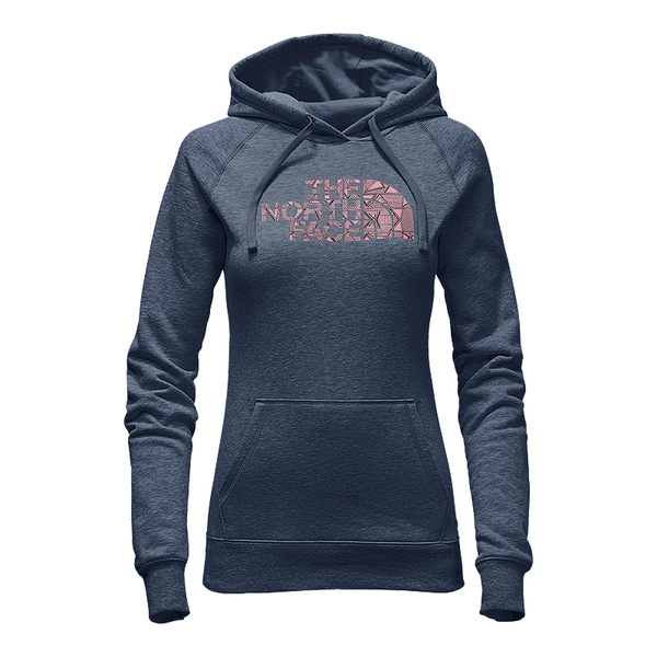 The North Face Women's Patterned Half Dome Hoodie -Ink Blue