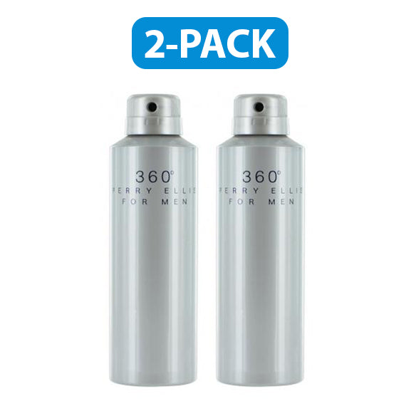 "Perry Ellis 360 Body Spray 6.8 oz ""2-PACK"" Men"