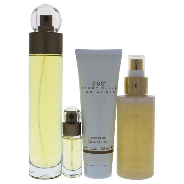 Perry Ellis 360 Eau de Toilette 3.4 oz 4 Piece Gift Set