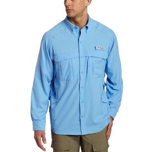 Columbia Men's Airgill Lite Long Sleeve Shirt, Large, White Cap