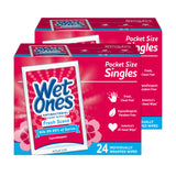 Wet Ones Antibacterial Hand Wipes Singles Fresh Scent 24 Ct