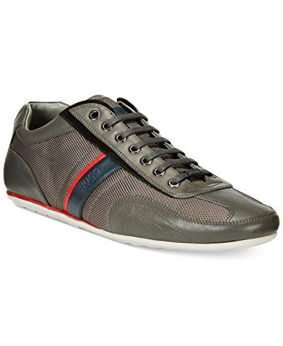 Hugo Boss Men's Thatoz Fashion Dark Grey Leather Sneakers (50227208 026)