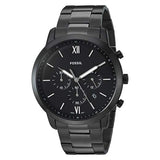 Fossil Neutra Chronograph Stainless Steel Plated Casual Watch Black (FS5474) Men
