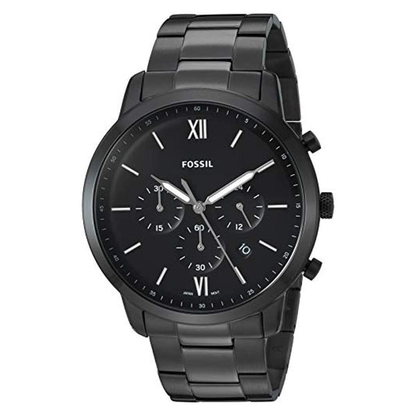 70936131a Fossil Neutra Chronograph Stainless Steel Plated Casual Watch Black (F –  Rafaelos