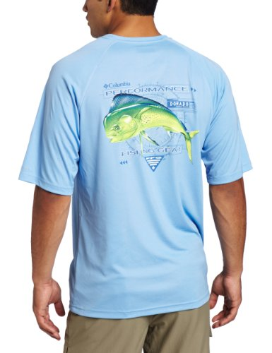 Columbia Men's Terminal Tackle Short Sleeve Shirt, White Cap Dorado1