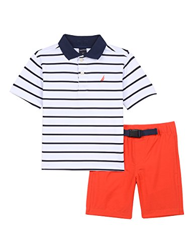 Nautica Toddler Boys' Two Piece Set with Synthetic Polo Shirt and Short, Sport Navy Buckley