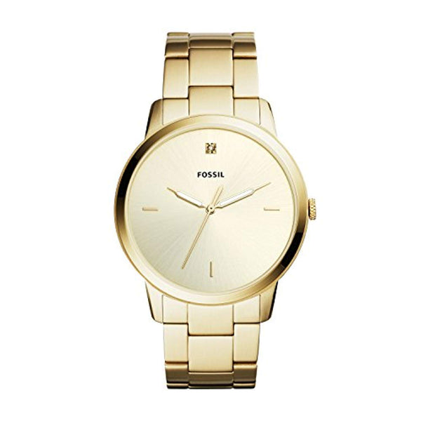 Fossil Men's The Minimalist Three-Hand Gold Tone Stainless Steel Watch (FS5457)