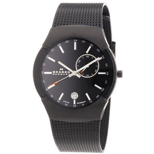Skagen Men's 983XLBB Black Label Black Mesh Band Watch