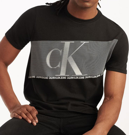 Calvin Klein Flash Stripe CK Crew Tee Black (4IVM802010)
