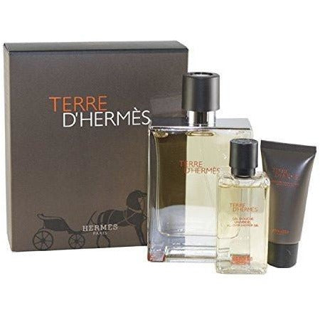 Hermes Terre D' Hermes 3 Piece Gift Set for Men, 3.3 oz