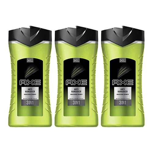 "AXE Anti-Hangover Body Wash 400 ml  (3 in 1) Men ""3-PACK"""