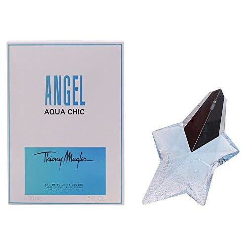 Thierry Mugler Angel Aqua Chic Light Eau de Toilette Spray for Women, 1.7 Ounce