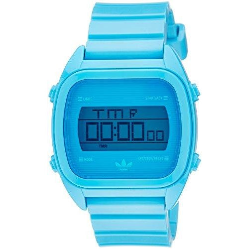 Adidas Unisex Santiago Green Plastic Quartz Watch with Blue Dial (ADH2893)