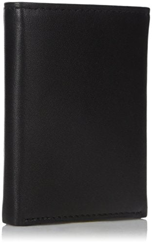 Nautica Men's Weatherly Trifold Wallet, Black