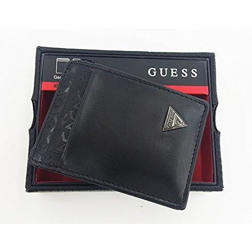 Guess ID CC Front Pocket Wallet Black Leather