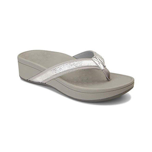 Vionic Women's Pacific High Tide Metallic Toe Post Sandal Silver