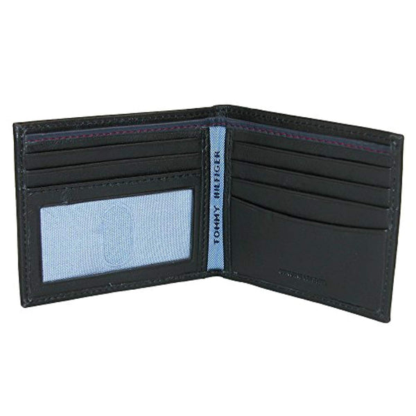 Tommy Hilfiger Men's Leather Slim Billfold Wallet Black (31TL13X008)