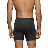 Calvin Klein Men's Underwear Microfiber Stretch 3 Pack Boxer Brief Black (NB1290-001)