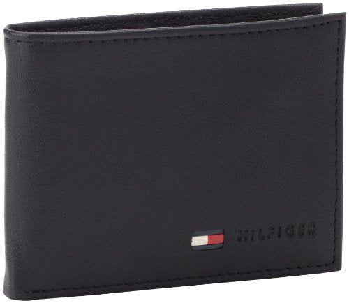Tommy Hilfiger Men's Leather Multi-Card Bifold Wallet Black (31TL22X060)