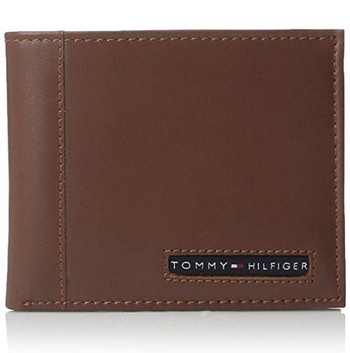 Tommy Hilfiger Men's Leather Cambridge Billfold Passcase Wallet  (31TL22X063)