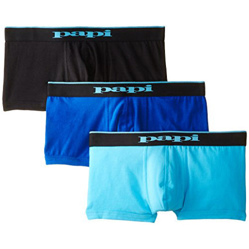 Papi Men's 3-Pack Brazilian Solid Trunk (980501)
