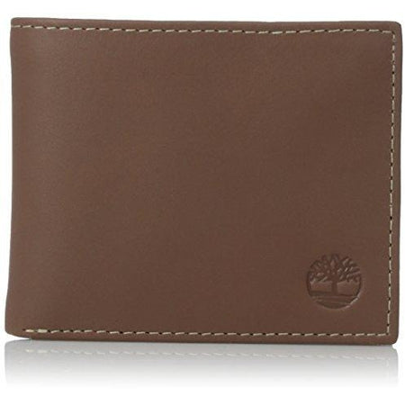 Nautica Watersail Brown Leather Passcase Billfold Wallet