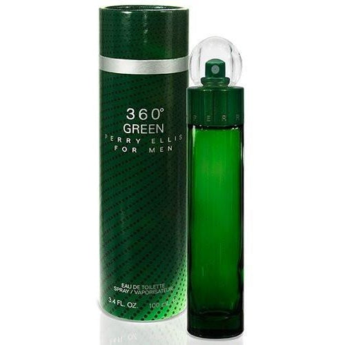Perry Ellis 360 Green Eau de Toilette Spray for Men, 3.4 oz