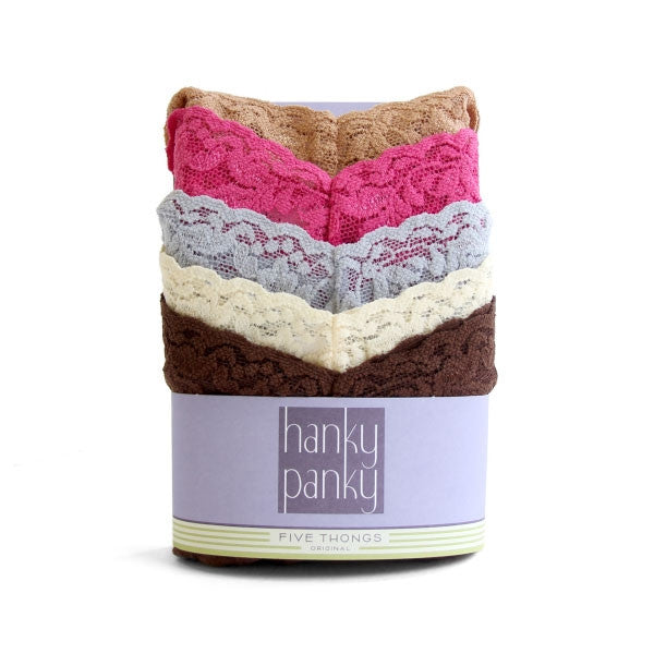 Hanky Panky 5 Pack Original Rise Thongs STYLE 4811F