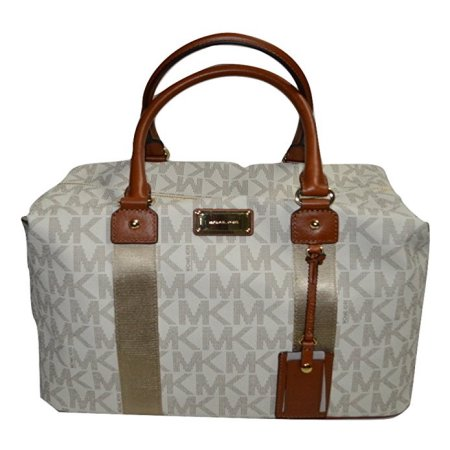 Michael Kors Jet Set Travel Signature LG Weekender/ Carry On Bag Vanilla (35S8GTFU7B)