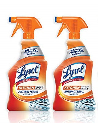 "Lysol Antibacterial Kitchen Pro Cleaner Spray 22 oz 650 ml ""2-PACK"""