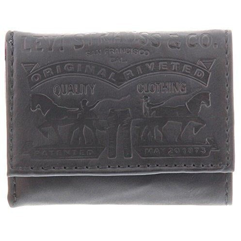 65c1b80b7a1 Levi's Men's Leather 2 Horse Logo Trifold Wallet – Rafaelos