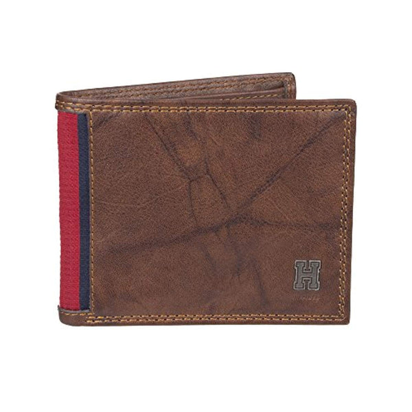 Tommy Hilfiger Men's Rfid Blocking Leather Extra Capacity Traveler Wallet Saddle (31TL240004)