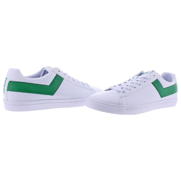 Pony Top Star Men's Retro Fashion Court Sneakers Shoes White/Green (410452-89T)