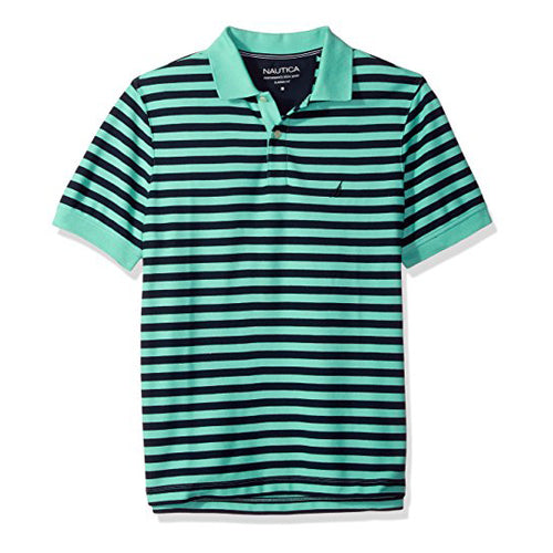 Nautica Men's Classic Short Sleeve Stripe Polo Shirt (K81003)