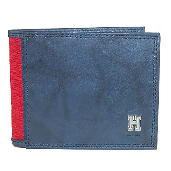 Tommy Hilfiger Men's Rfid Blocking Leather Extra Capacity Traveler Wallet (31TL240004)