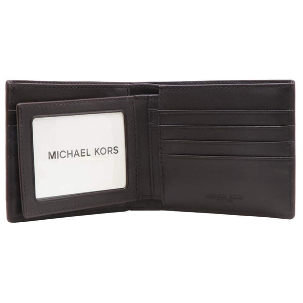 Michael Kors Jet Set Brown Men's Billfold W/Passcase Wallet (36H7LMNF6B)