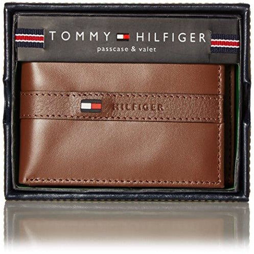 05f0738aecc ... Tommy Hilfiger Men's Ranger Leather Passcase Wallet with Removable Card  Holder ...