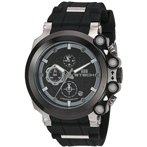 BTECH Unisex Cite Analog Chronograph Casual Wrist Watch Silicon Strap Band