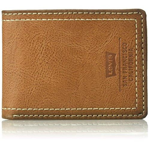 Levi's Men's Extra Capacity Slimfold Wallet With Batwing Logo