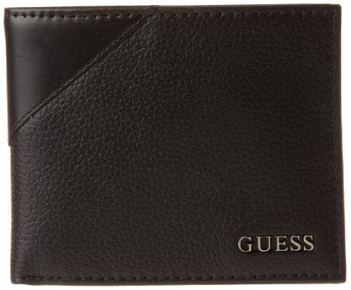 Guess Men's Monterrey Passcase Wallet, Black