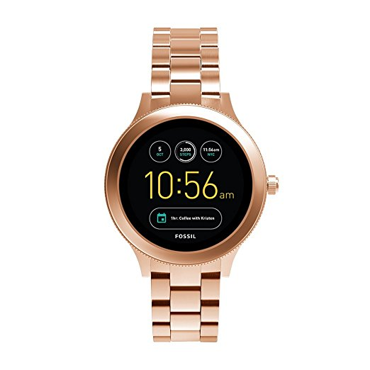 Fossil Gen 3 Smartwatch Q Venture Rose Gold Tone Stainless Steel FTW6000