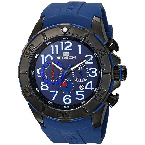 BTECH Men Analog/Chronograph Silicone Strap Band Wrist Watch