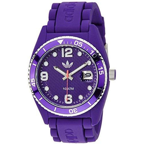 Adidas 43mm Purple Silicone Plastic Case Mineral Glass Quartz (ADH6176)