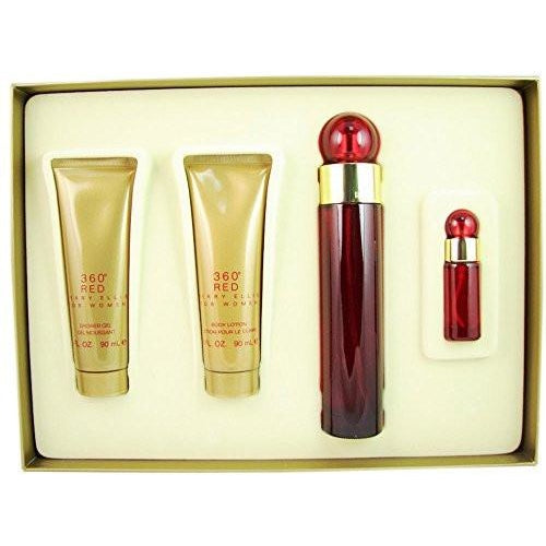 PERRY ELLIS 4 Piece 360 Red Fragrance Set for Women