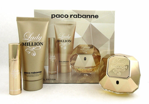 Paco Rabanne Lady Million EDP 2.7 oz Gift Set Women