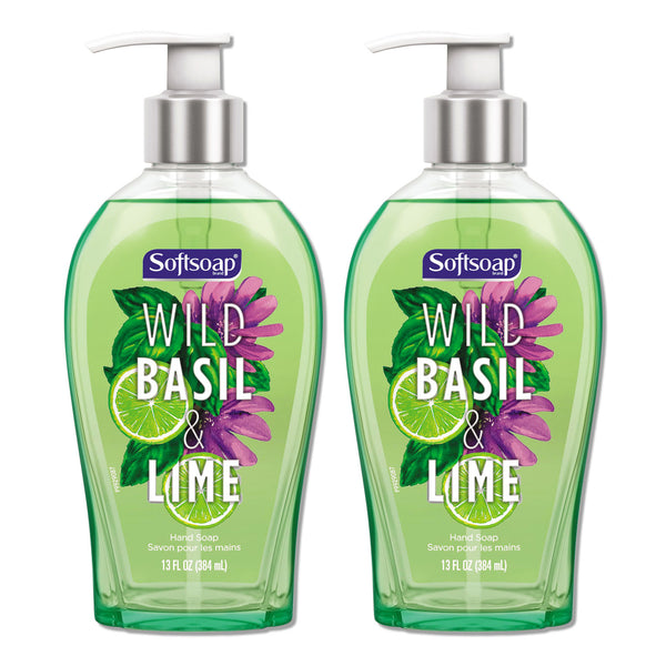 Softsoap Wild Basil & Lime Hand Soap 13 oz (2-PACK)