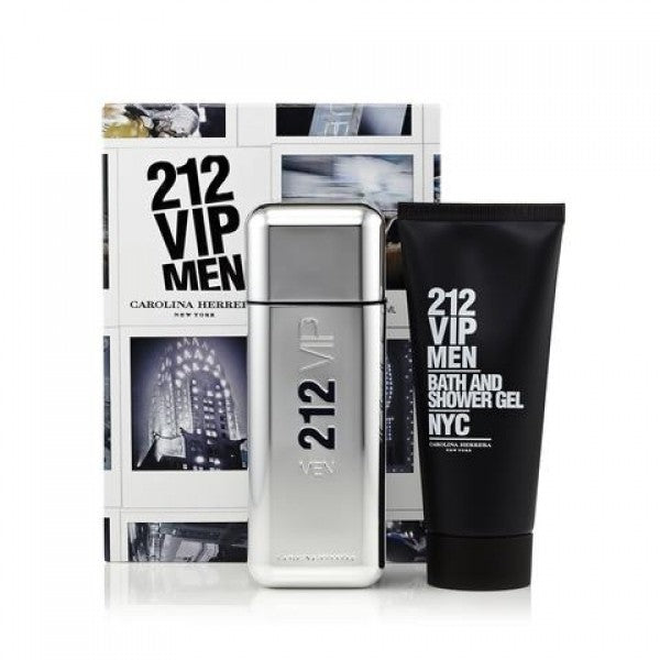 Carolina Herrera 212 Vip 2 Piece Gift Set EDT 3.4 oz Men
